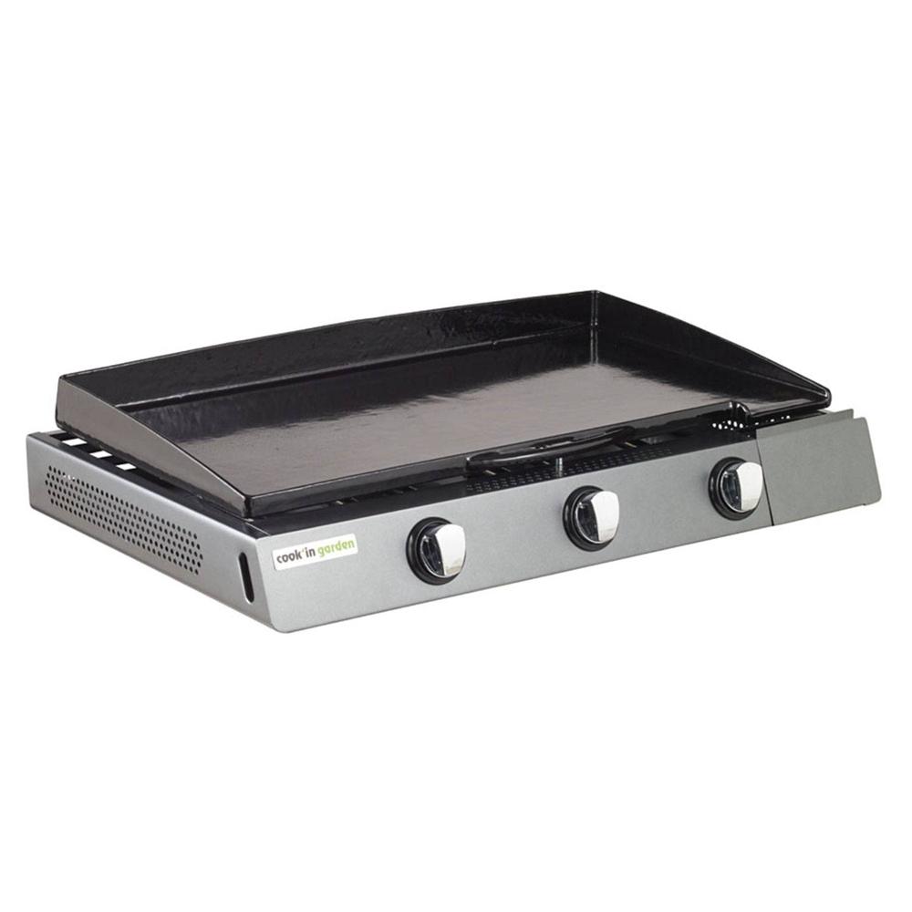 Cook'in Garden - Plancha au gaz FINESTA 3 - 3 brûleurs 9kW