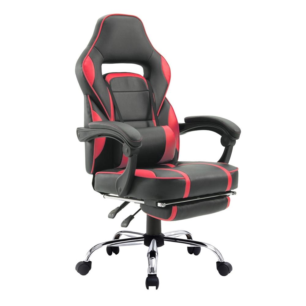 Fauteuil de bureau/gamer noir et rouge LINK