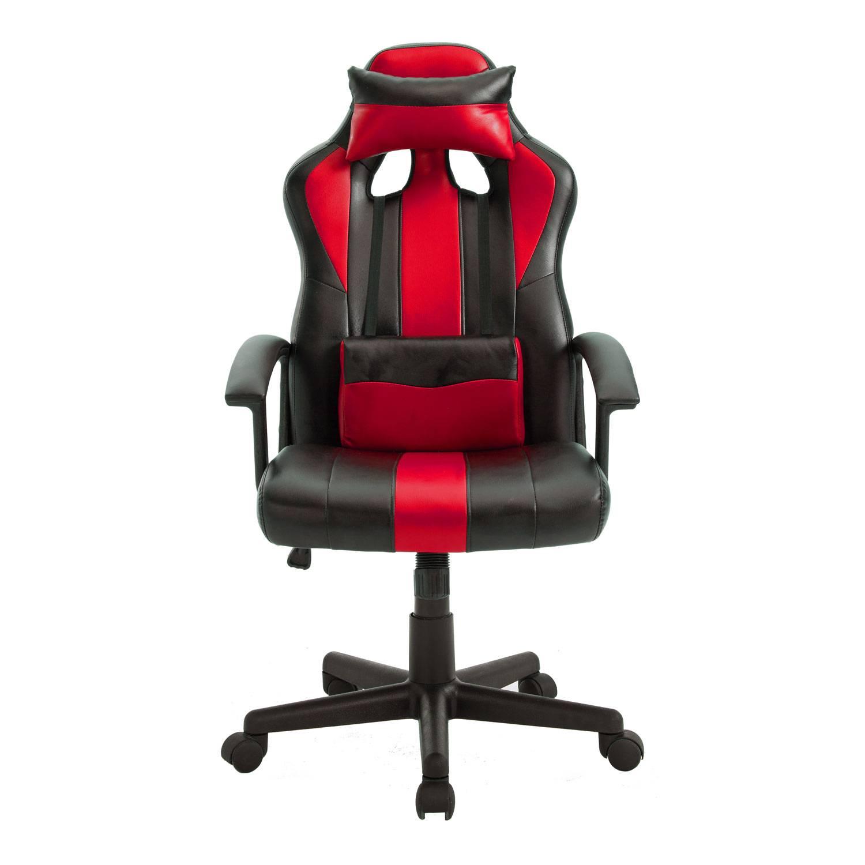 Fauteuil de bureau / gamer noir et rouge CRASH