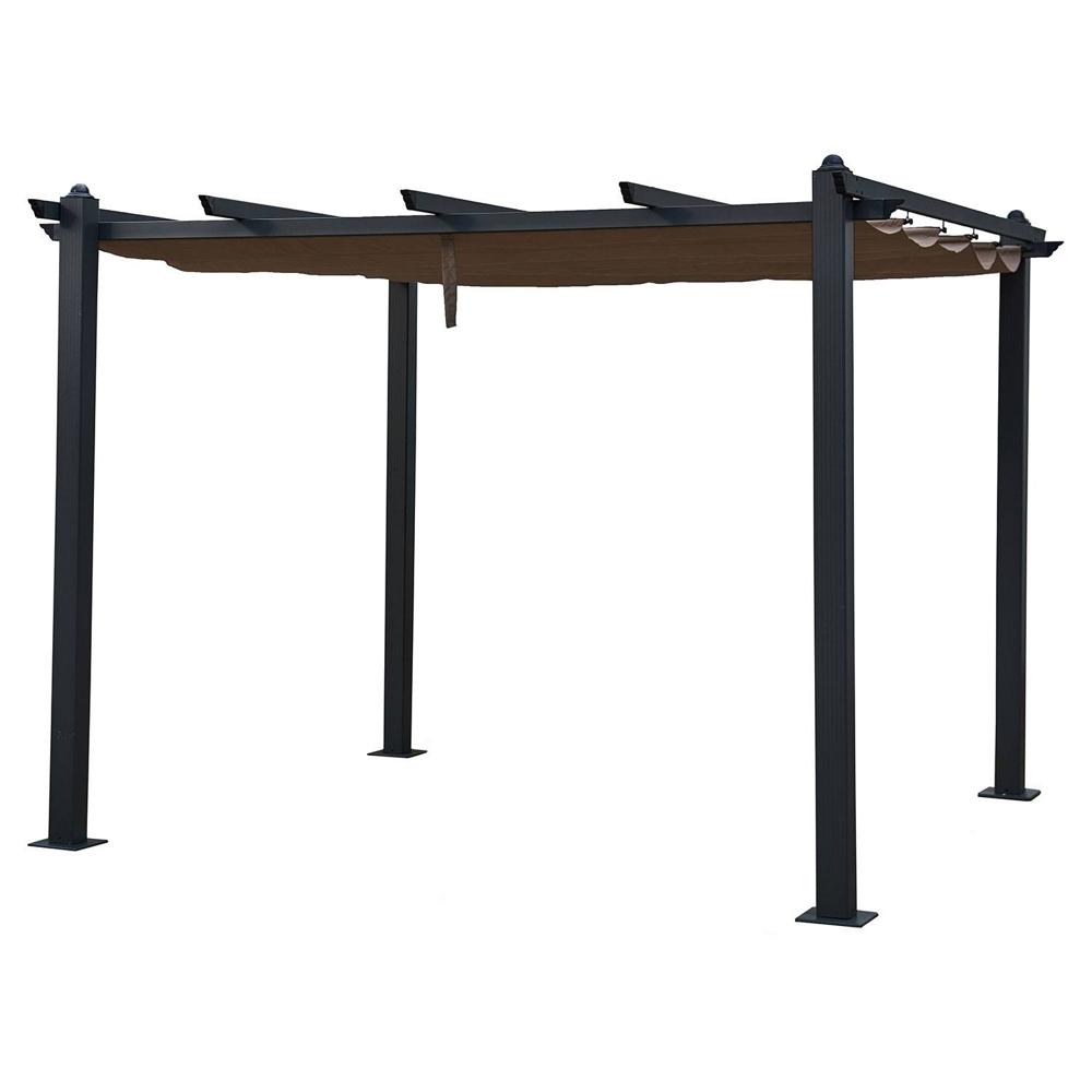 Pergola autoportante 3×3m CASSIS taupe - structure aluminium