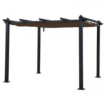 Pergola autoportante 3 × 3m CASSIS taupe - structure aluminium