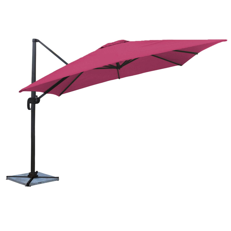 Parasol déporté MOLOKAI carré 3x3m fuchsia