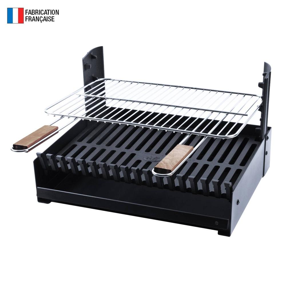 So Magic - Barbecue au charbon de bois réglable en 3 hauteurs GRILLOIR - grilloir à poser