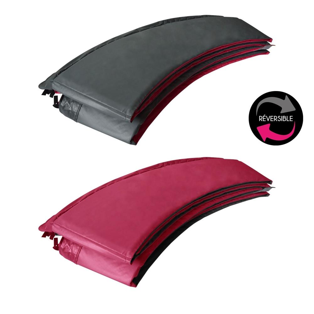 Matelas de protection réversible pour trampoline ADELAÏDE - gris/rose