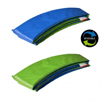 Matelas de protection réversible pour trampoline Ø370cm PERTH - vert/bleu