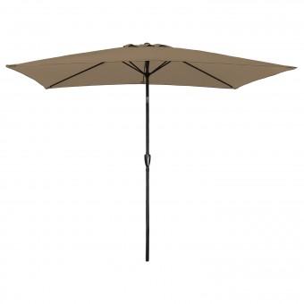 Parasol droit HAPUNA rectangulaire 2x3m taupe