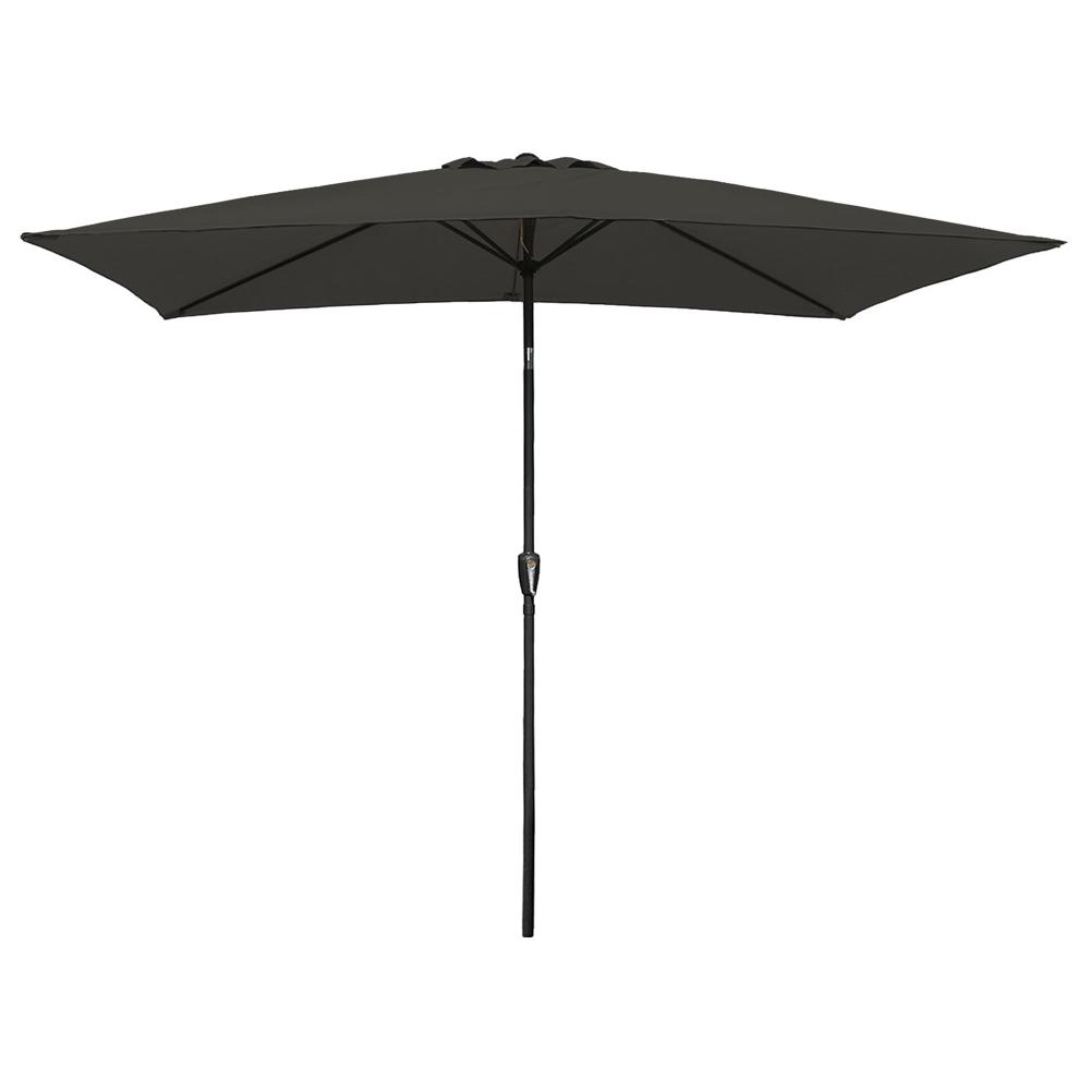 Parasol droit HAPUNA rectangulaire 2x3m gris