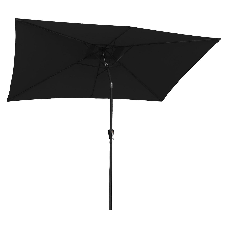 Parasol droit HAPUNA rectangulaire 2x3m noir