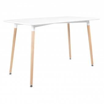Table rectangulaire 120 × 70cm blanche PIA