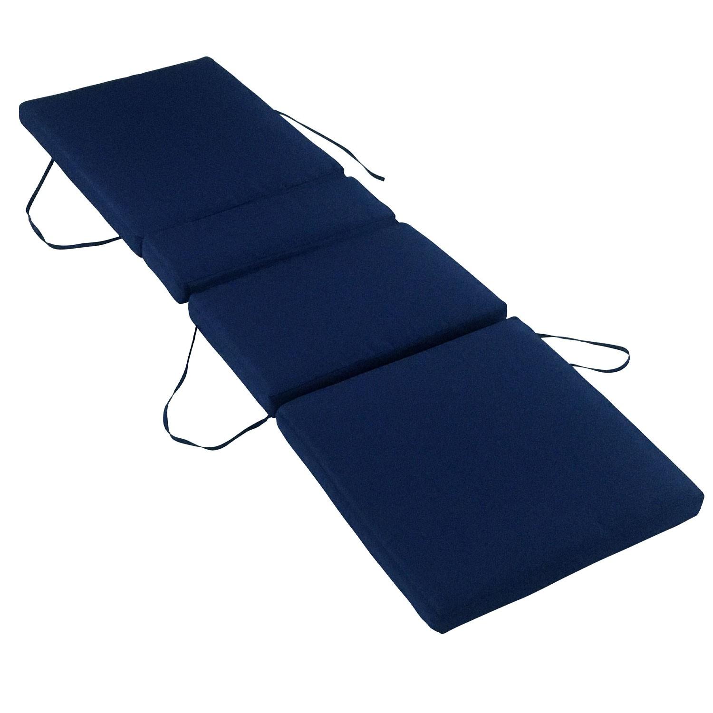 Coussin pour bain de soleil 200x60cm bleu