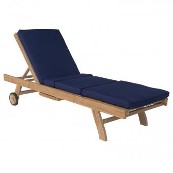 Coussin de bain de soleil - bleu 200 × 60cm