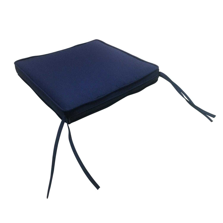 Lot de 4 coussins de chaise carré 40x40cm bleu