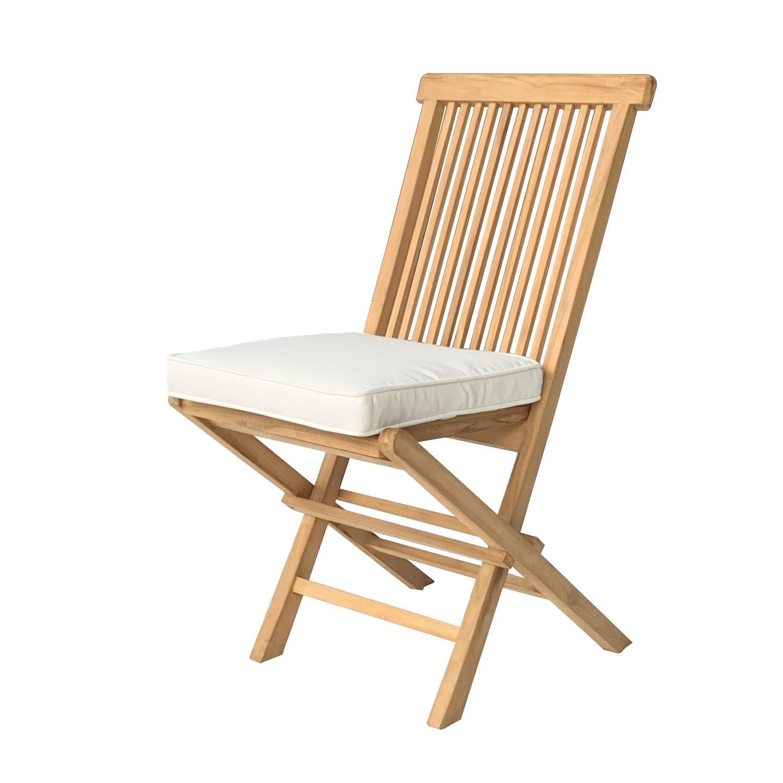 Lot de 4 coussins de chaise carré 40x40cm beige