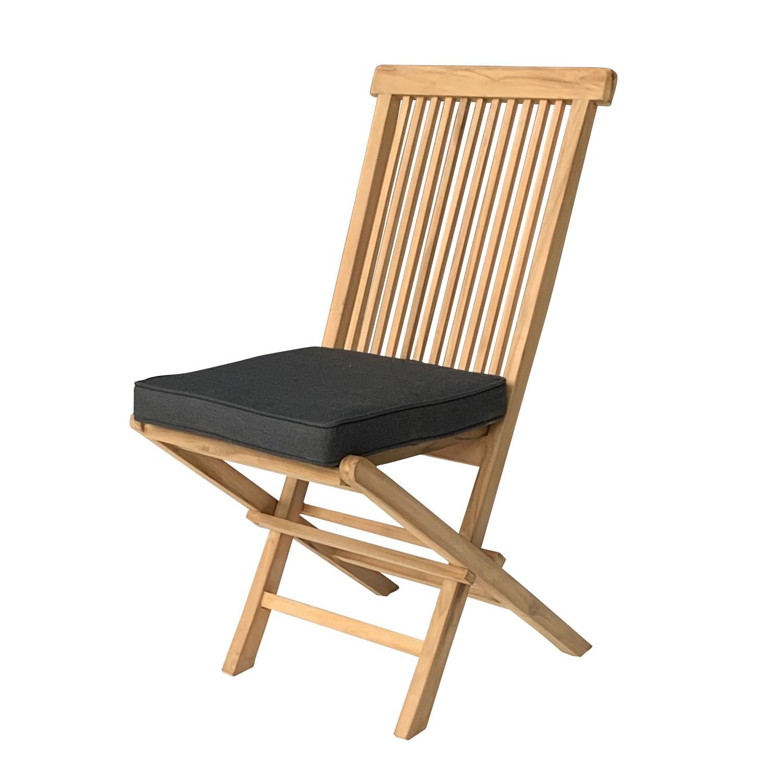 Lot de 8 coussins de chaise carré 40x40cm anthracite