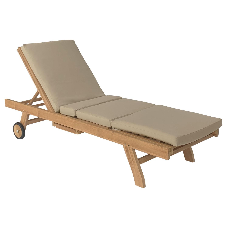 Lot de 2 coussins de bain de soleil taupe 200 × 60cm