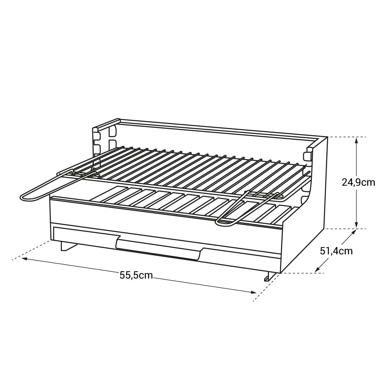 Le Marquier - Barbecue ORIGINAL VULCAIN 54*32 Acier
