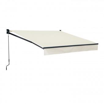 Store banne SAULE 2,95 × 2,5m - Toile beige et structure grise
