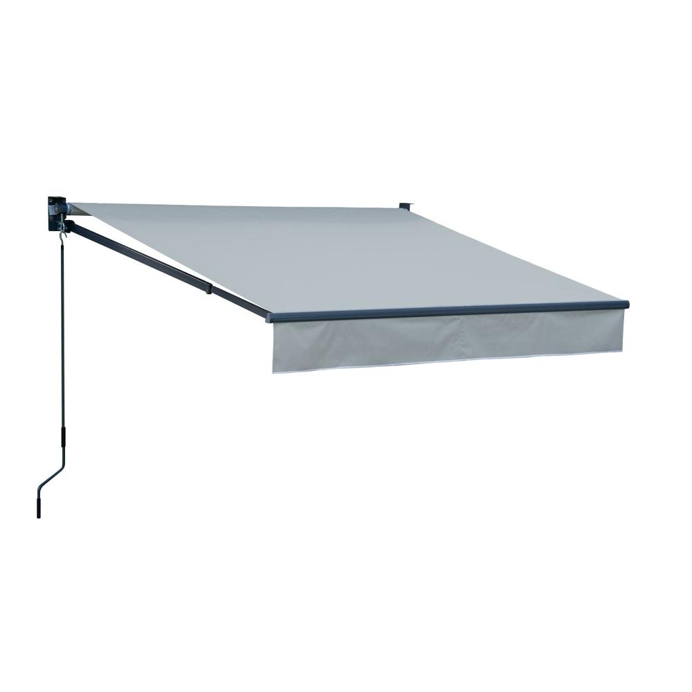 Store banne SAULE 2,5 × 2m - Toile grise et structure grise