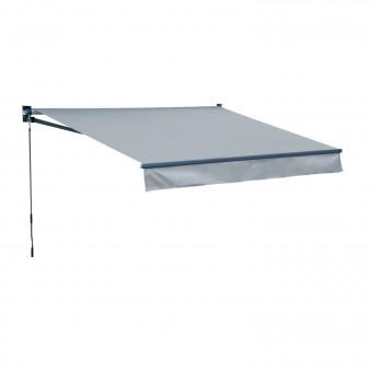 Store banne SAULE 2,95 × 2,5m - Toile grise et structure grise