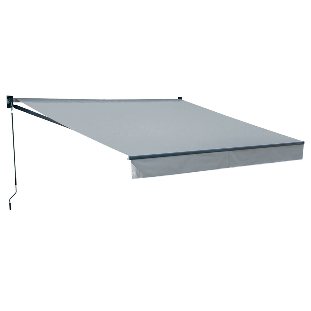 Store banne SAULE 3,5 × 3m - Toile grise et structure grise