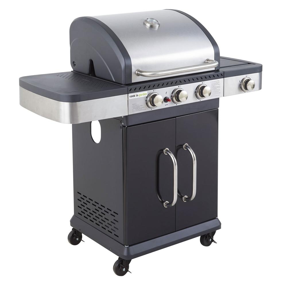 Barbecue Gaz FIDGI 3+1 brûleurs