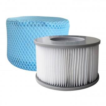 Lot de 2 cartouches filtrantes avec filet pour spa gonflable MSPA