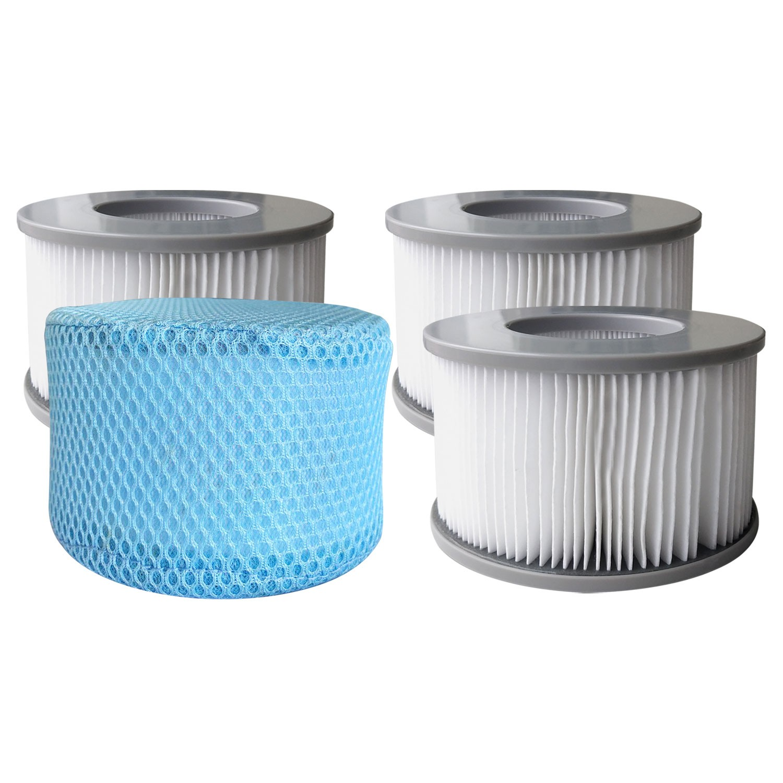 Lot de 4 cartouches filtrantes pour spa gonflables LITE MSpa