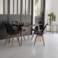Ensemble table extensible 120/160cm HELGA et 4 chaises NORA noir