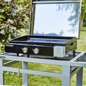 Cook'in Garden - Plancha gaz en fonte FINESTA - 2 brûleurs