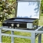 Cook'in Garden - Plancha au gaz FINESTA 2B avec capot - 2 brûleurs 5kW