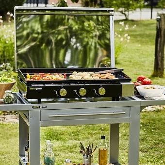 Cook'in Garden - Plancha gaz en fonte FINESTA - 3 brûleurs