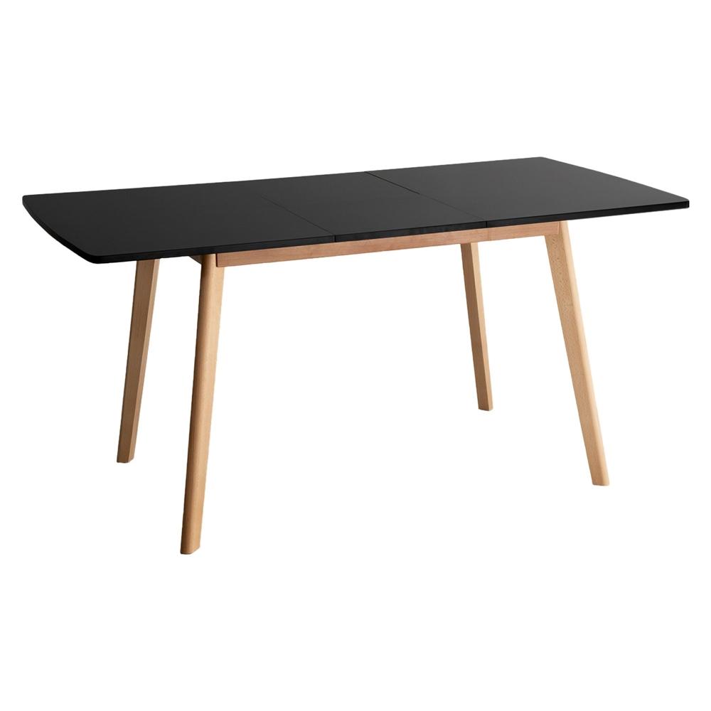 Table extensible 120/160cm noire HELGA