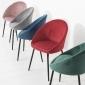Lot de 2 chaises vintage DIANE velours vert
