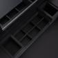 Coiffeuse 5 tiroirs et rangements avec tabouret noire MARYLIN