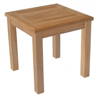 Table d'appoint carrée en teck 45cm JAVA