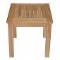 Table d'appoint carrée en teck 45cm JAVA