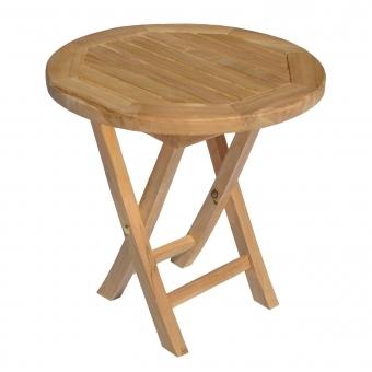 Table d'appoint ronde en teck 50cm LOMBOK