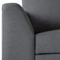 Canapé d'angle convertible LOGAN 3 places gris