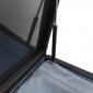 Coffre de rangement PIANA en résine tressée noire - intérieur gris