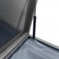 Coffre de rangement PIANA en résine tressée grise - intérieur gris