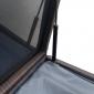 Coffre de rangement PIANA en résine tressée marron - intérieur gris