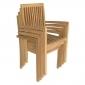 Lot de 2 chaises de jardin JAVA empilables en teck