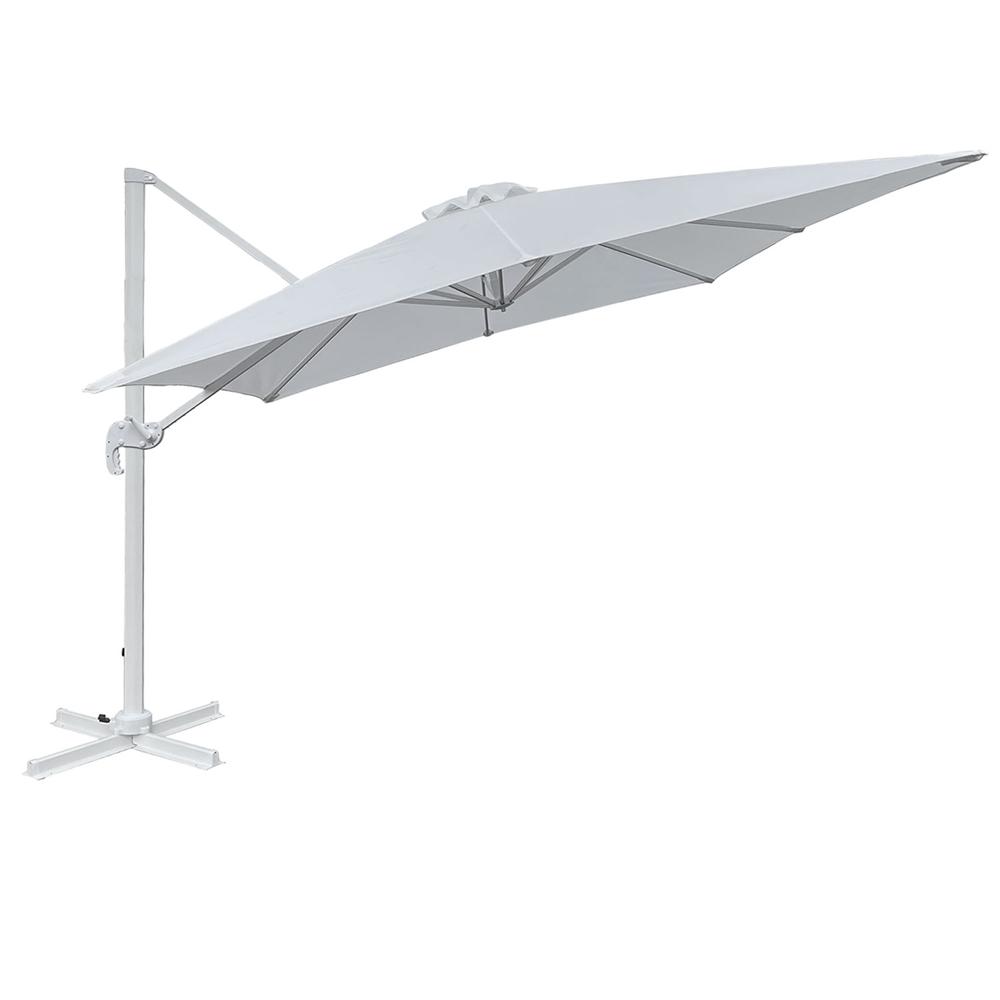 Parasol déporté MOLOKAI carré 3x3m blanc
