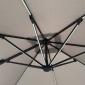 Parasol déporté MOLOKAI rectangulaire LED 3x4m taupe