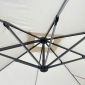 Parasol déporté MOLOKAI rectangulaire LED 3x4m beige