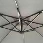 Parasol déporté MOLOKAI rectangulaire LED 3x4m gris