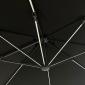 Parasol déporté MOLOKAI carré LED 3x3m noir + housse