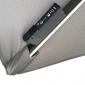 Parasol déporté MOLOKAI carré LED 3x3m gris + housse