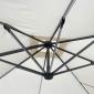 Parasol déporté MOLOKAI carré LED 3x3m beige + housse