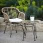 Salon de jardin LIFOU en résine 2 places - coussins crème